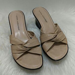 Athena Alexander Sleek Cream Sandals